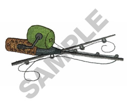 FISHING POLES embroidery design
