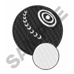 LAWN BOWL embroidery design