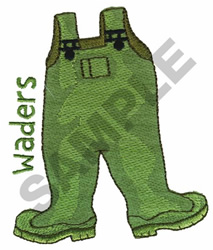 WADERS embroidery design