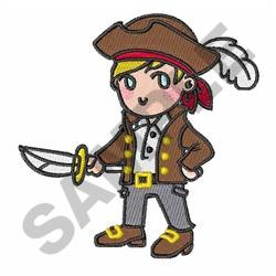 LITTLE BOY PIRATE embroidery design