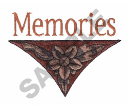 MEMORIES embroidery design