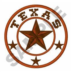 TEXAS STAR EMBLEM embroidery design