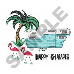 HAPPY GLAMPER embroidery design