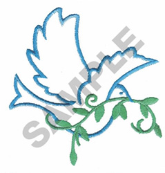 BIRD WITH VINE embroidery design