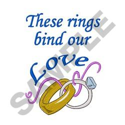 RINGS BIND OUR LOVE embroidery design