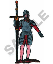 KNIGHT WITH SWORD embroidery design