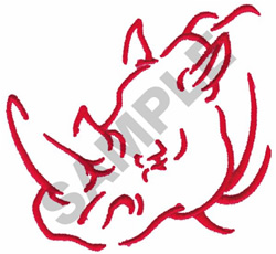 RHINO embroidery design