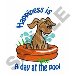 A DAY AT THE POOL embroidery design
