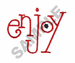 ENJOY embroidery design