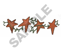 STARS WITH VINES embroidery design