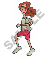 LADY JOGGING embroidery design