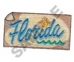 FLORIDA embroidery design