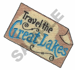 TRAVEL THE GREAT LAKES embroidery design