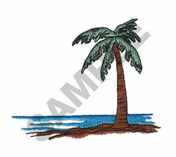 PALM TREE AND VIEW embroidery design