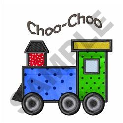CHOO CHOO APPLIQUE embroidery design