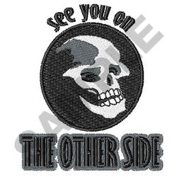 THE OTHER SIDE embroidery design