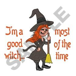 IM A GOOD WITCH embroidery design