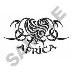 ZEBRA HEART AFRICA embroidery design