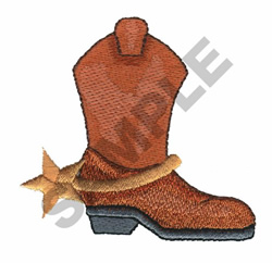 BOOT embroidery design