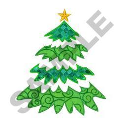 CHRISTMAS TREE APPLIQUE embroidery design