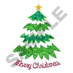 MERRY CHRISTMAS APPLIQUE embroidery design