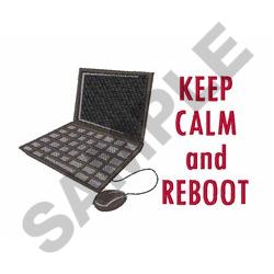 KEEP CALM AND REBBOT embroidery design