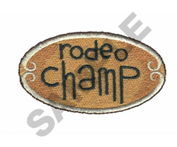 RODEO CHAMP BUCKLE embroidery design