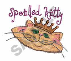 SPOILED CAT embroidery design