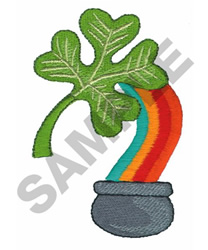CLOVER AND RAINBOW embroidery design
