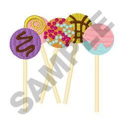 Cake Pops embroidery design