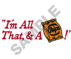 IM ALL THAT.... embroidery design