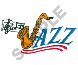 SAXOPHONE JAZZ embroidery design