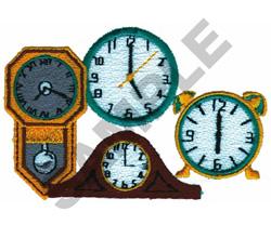 CLOCKS embroidery design