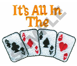 ITS ALL IN THE CARDS embroidery design
