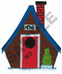 HOME BIRDHOUSE embroidery design