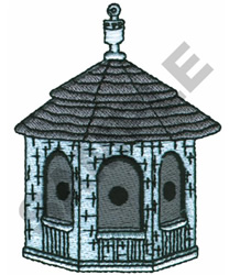 GAZEBO BIRDHOUSE embroidery design