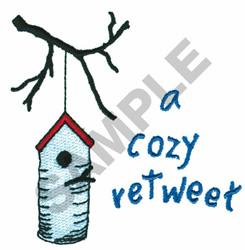 A COZY RETWEET BIRDHOUSE embroidery design