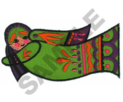 DOLL HORIZONTAL embroidery design