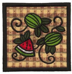 WATERMELON QUILT APPLIQUE embroidery design