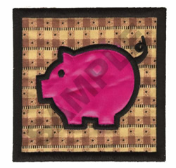 PIG QUILT APPLIQUE embroidery design