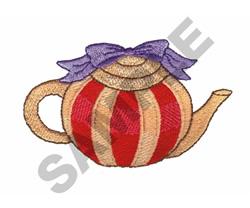 TEA POT embroidery design