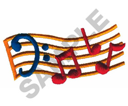 MUSIC STRAND embroidery design