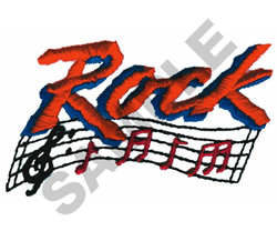 ROCK MUSIC LOGO embroidery design