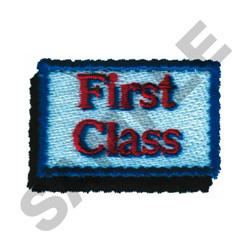 FIRST CLASS embroidery design