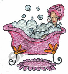 BATHING WOMAN embroidery design