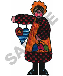 HOME SWEET HOME LADY embroidery design