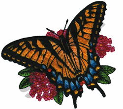 TIGER BUTTERFLY embroidery design