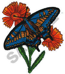 ANISE BUTTERFLY embroidery design