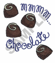 MMM...CHOCOLATE embroidery design