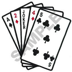 POKER STRAIGHT OUTLINE embroidery design